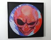 Alien Vinyl Art - Limited Edition of 33 - Ready to hang framed or unframed