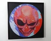 Alien art on vinyl record...