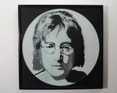 John Lennon portrait sten...