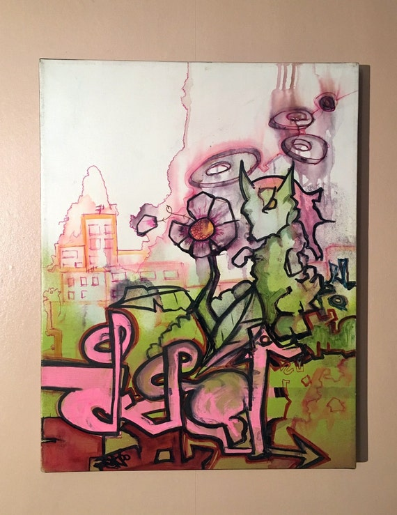 Graffiti Art on Canvas Al...