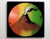 Rasta Mountain Stencil Vi...