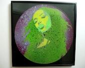 Aaliyah stencil art vinyl...