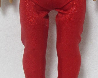 18 Inch Red Glitter Spandex Leggings Fits American Girl Doll On Sale