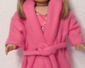 18 Inch Rose Fleece Robe Fits American Girl Doll