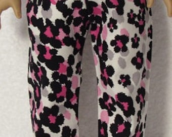 18 Inch Doll Hot Pink Black and White Print Pants Fits American Girl Doll On Sale