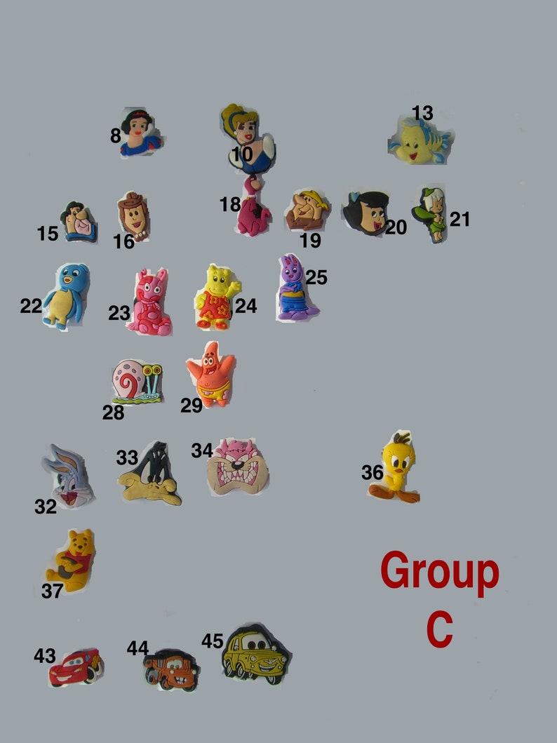 e79588dbf5c14 Winnie The Pooh Shoe Charms, Patrick Crocs Jibbitz. The Flintstones Cartoon  Jibbitz. The Backyardigans Doll Charms. Bugs Bunny Doll Buttons