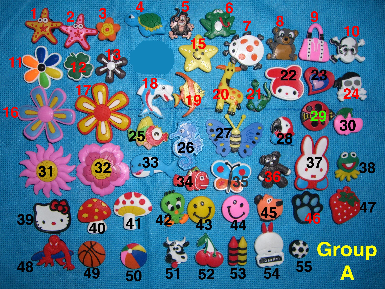 acec66dbc9384 Flower Shoe Charms. Animal Crocs Jibbitz. Fish Cartoon Jibbitz. Disney  Jibbitz. Doll Charms Jibbitz. Disney Sports Fish Animal Buttons