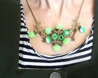 Mechanical steampunk flower necklace