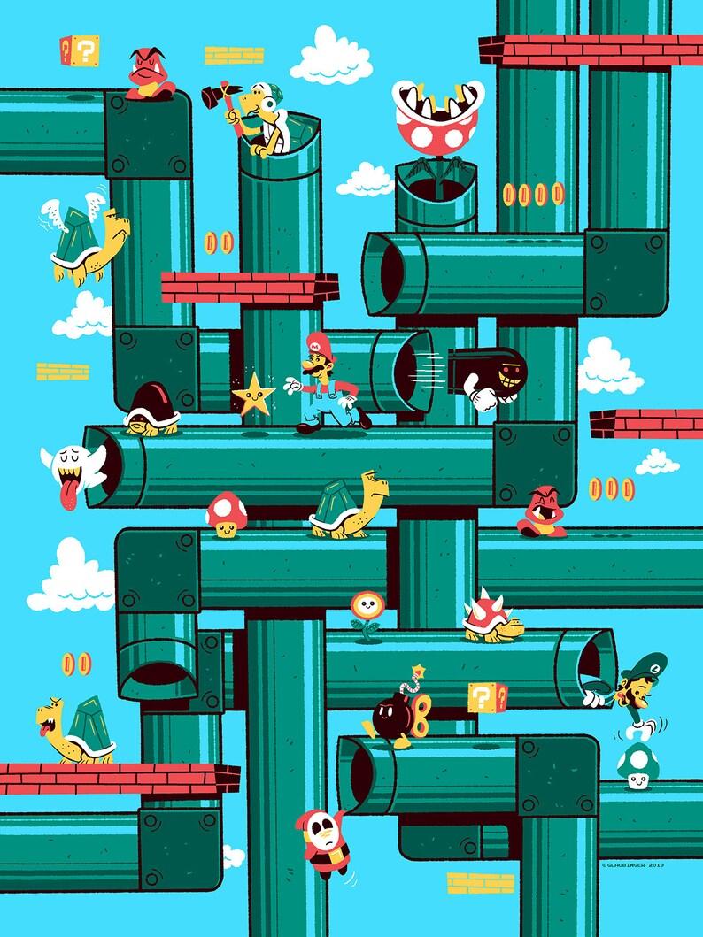 Super Mario Bros.  screen print image 0