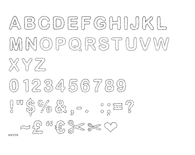 Appliqué font hand drawn digital typeface for your computer