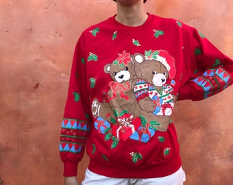 Vintage Ugly Christmas Sweater Etsy