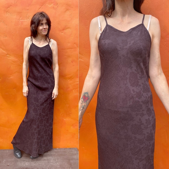 Vintage 1990s bias cut Dress. 90s bias cut maxi dr