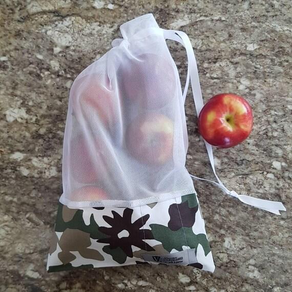 Sac à fruits et à légumes écologique lavable / Zero déchet / Vrac  / Ecological and washable fruits and veggies bag / Bulk /Zero waste