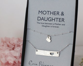 Mothers gift for mom from daughter Mother Daughter Jewelry personalized Mother of the bride pink necklace earrings bracelet wedding