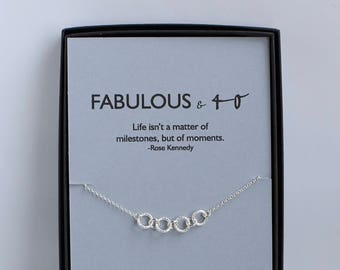 40th Birthday Gift For Her Gifts Women Inspirational Girlfriend 50th 30th Necklace