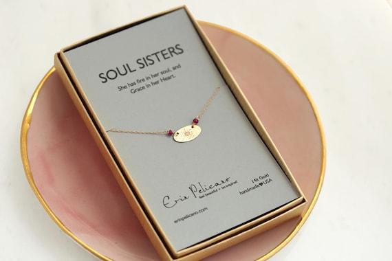 Geschenk f r schwester halskette trauzeugin geschenk gold bff etsy - Geschenk schwester 25 ...