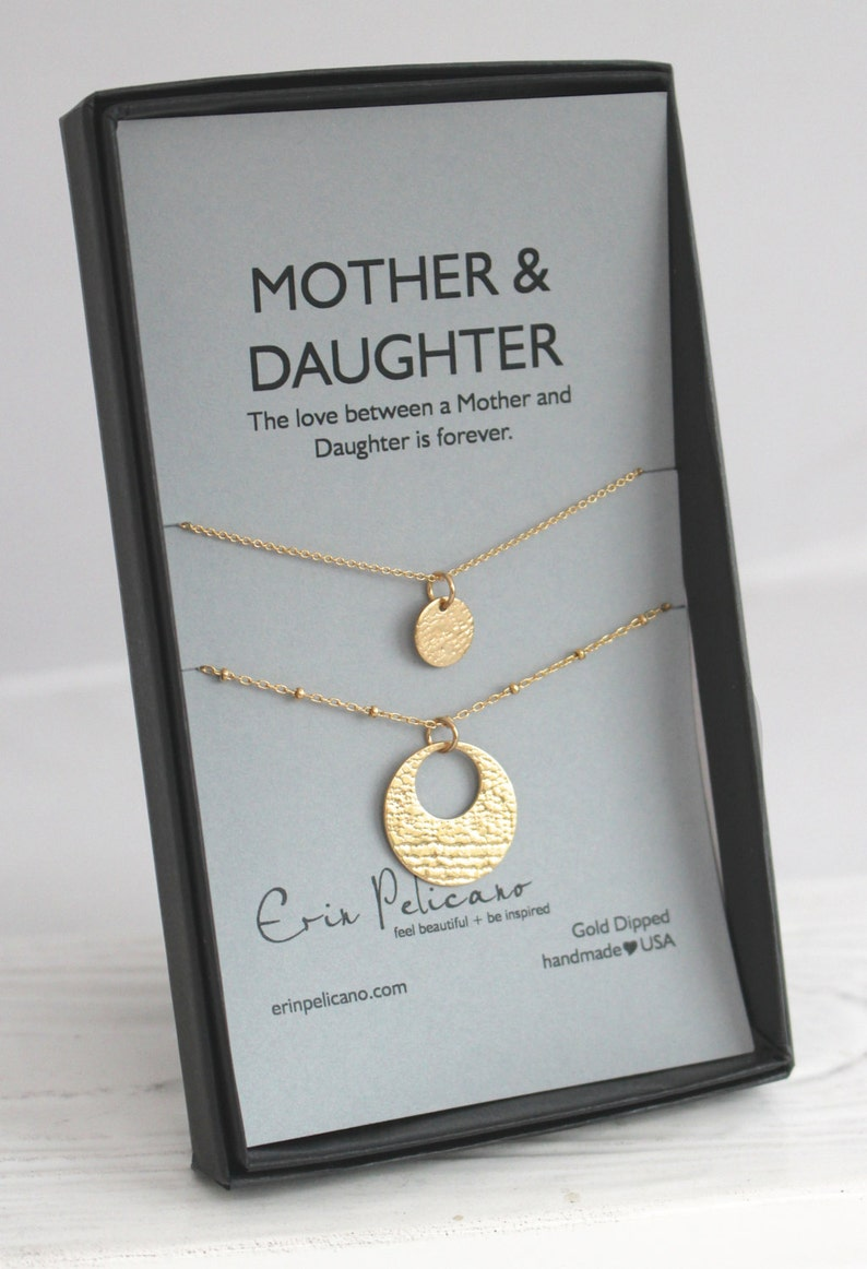 Mother Daughter Necklace Set Of The Bride Gift Mothers
