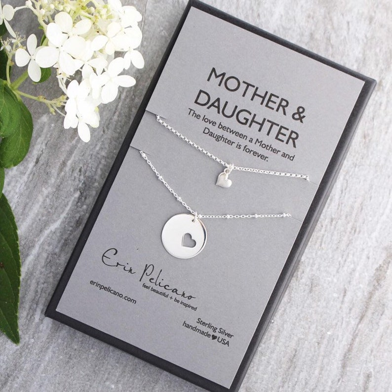 Mother Daughter Necklace Set Mothers Necklace Mother of the image 0