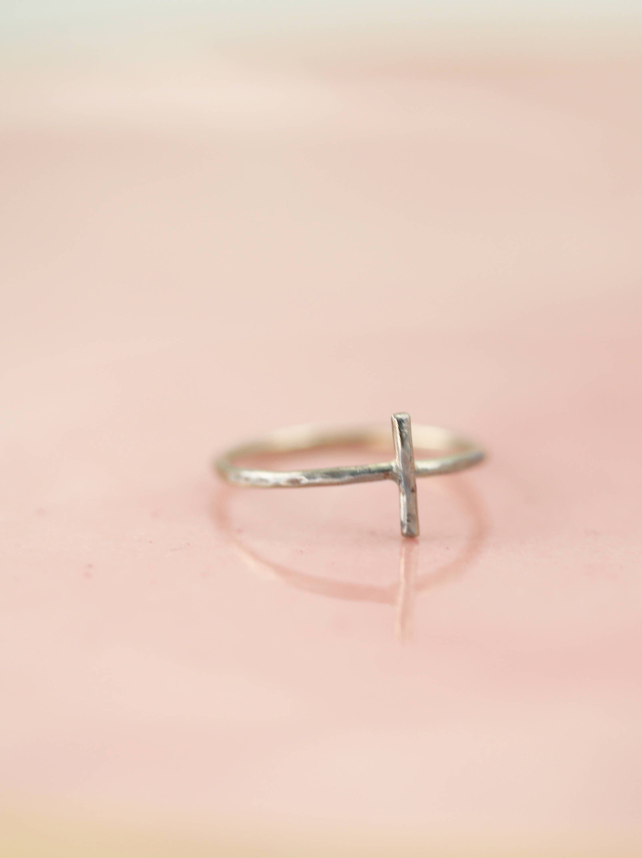 Inspirational Gift Cross Ring Stacking Ring Dainty Jewelry