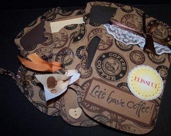 Blissful Coffee 4x6 Chipboard Scrapbook