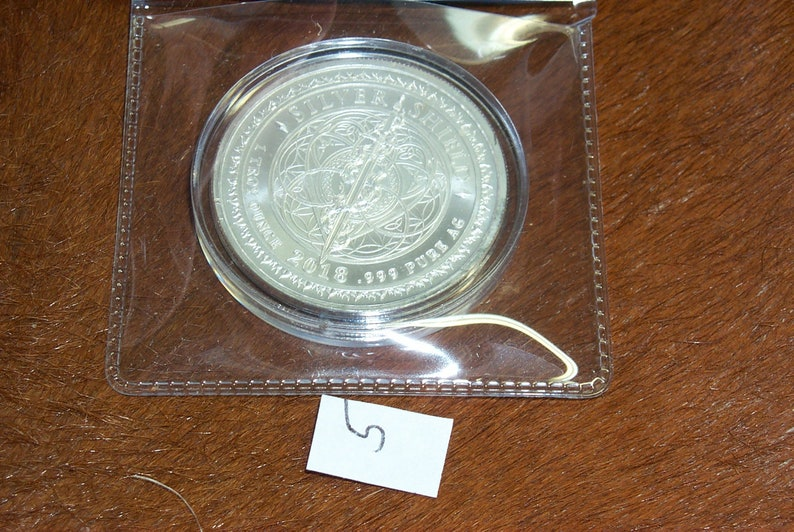 1 oz .999 Pure Solid Silver ArtRound Death of The Dollar Series #12 Moto D+D