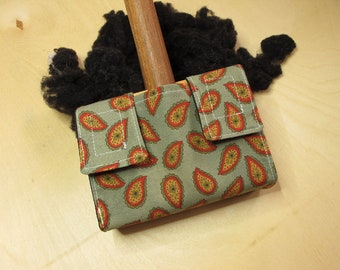 Small Carder Keeper- A Spinners Tool - Paisley Delight