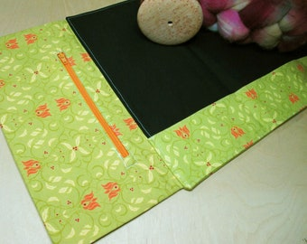 Lap Thing  - Spinners Cloth - A Spinners Tool - Royal Orange Tulips