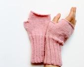 Fingerless Gloves Women, Arm Warmers Pink, Hand Warmers Women, Knit Fingerless Gloves Wool, Winter Accessories, Lover Gift, Hand Warmers,