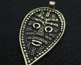 Bronze Viking Face pendant