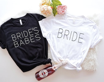 BRIDE IS FREE when you buy 3 | Brides Babes Shirts | Bridesmaid Shirts and Bride Shirts | Bachelorette Party Shirts | Bridesmaid Gifts |