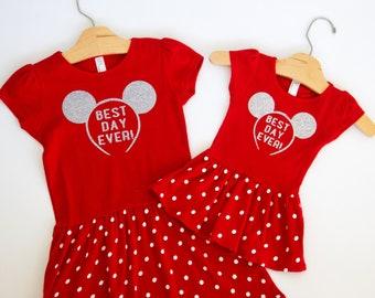 Best Day Ever Dress | Matching Sister Dresses for Disney | Girls Minnie Dress | Best Day Ever Shirt | Girls Disney World Dress