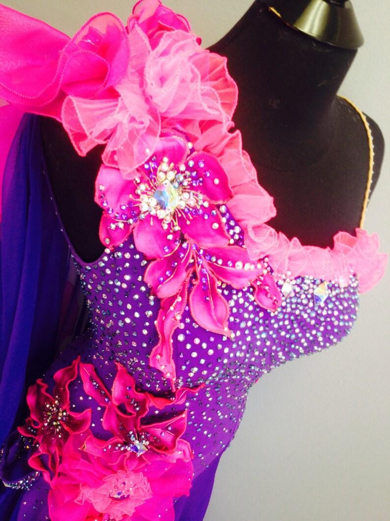 3ee787af3 Purple Dance Ballroom Dress Ballroom Dance Dresses   Etsy