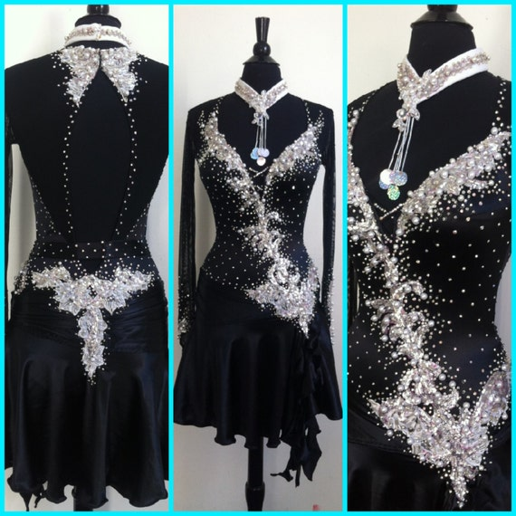 BALLROOM AND LATIN DRESSES AND TRIO DANCEWEAR B18 SIZE 2 8-10 YRS