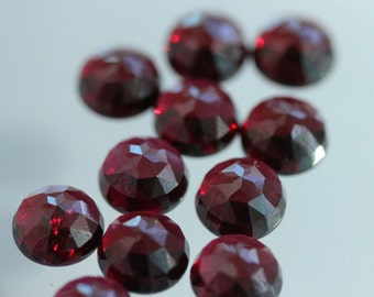 5mm Fancy Rose Cut Garnet - 1 Cab