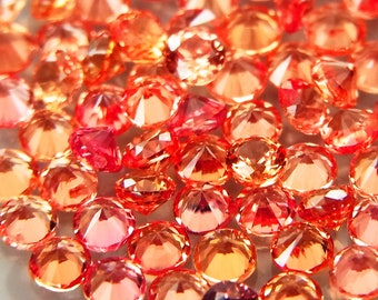 Padparadsha Sapphire, 1.6mm Sapphires, Sapphires Melee, Sapphires for Jewelry, Sapphires Gemstone - 1 piece