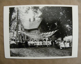 Carr-Todd Family Reunion - Toddsville, New York in 1914 Black and White Postcard