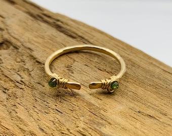 MEDUSA Bite Ring - Hand Hammered Boho Luxe Jewelry