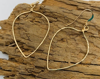 MADDIE Lotus Leaf Earrings - Hand Hammered Artisan Jewelry - Minimalist Earrings