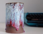 OOAK Chocolate Clay and Drippy Glaze Vase