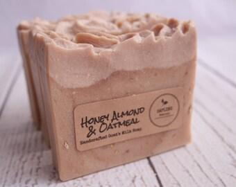 Honey Almond & Oatmeal Goat's Milk Bath Bar - great unisex stocking stuffer