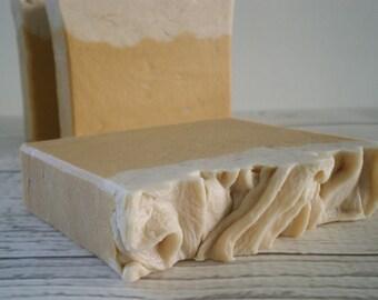 Pumpkin Spice Goat's Milk Soap with silk - great autumn scent
