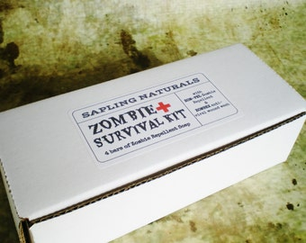 Zombie Survival Kit -choose your own scents- guy gift, man soap, stocking stuffer for men, walking dead fans, preppers, zombie survival