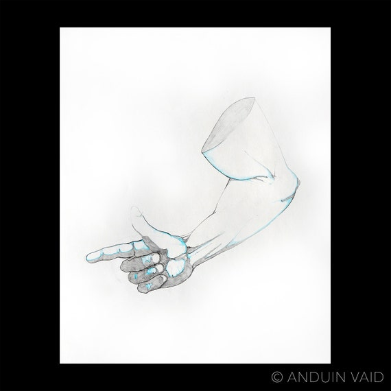 Right arm CB Study Original pencil drawing Human anatomy   Etsy