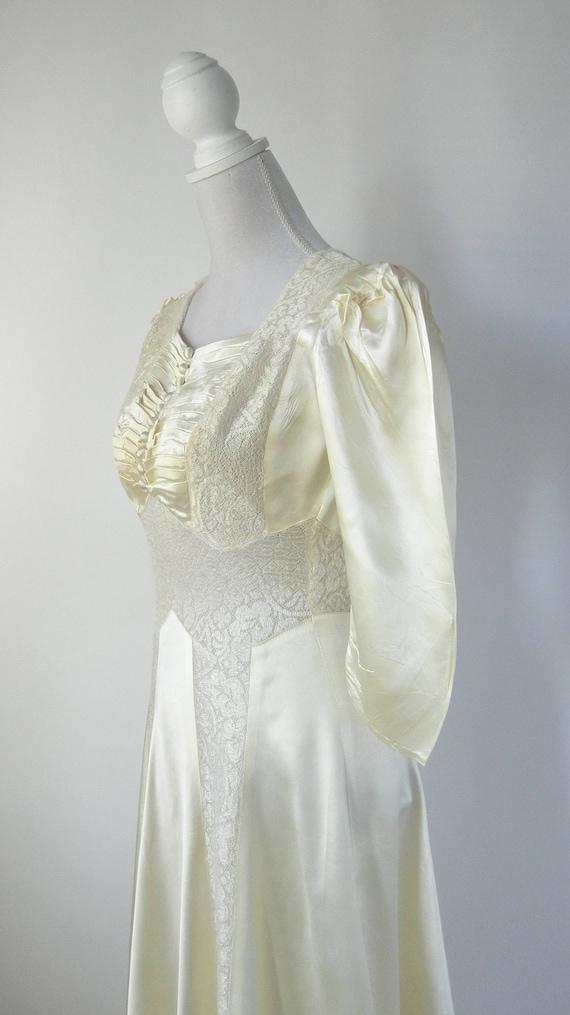 Vintage Wedding Dress, 1930s Wedding Dress, 30s W… - image 6