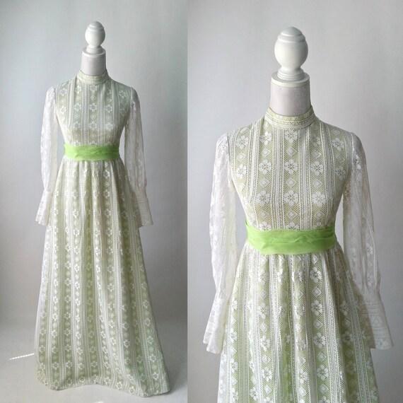 Vintage Dress, 1960s Dress, Retro Dress, White Lac