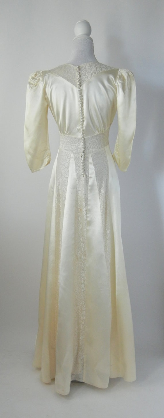 Vintage Wedding Dress, 1930s Wedding Dress, 30s W… - image 3