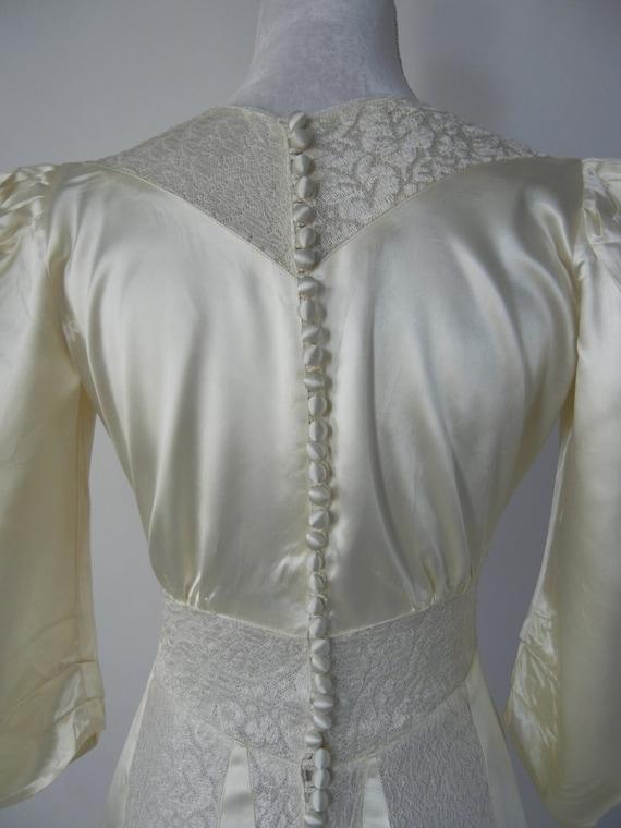 Vintage Wedding Dress, 1930s Wedding Dress, 30s W… - image 4