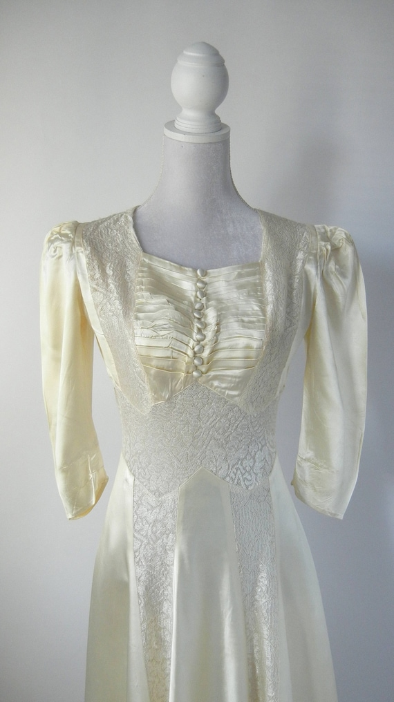 Vintage Wedding Dress, 1930s Wedding Dress, 30s W… - image 5