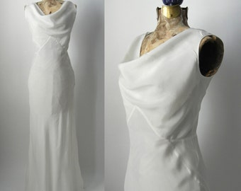 Vintage 1930s Style Silk Art Deco Gown