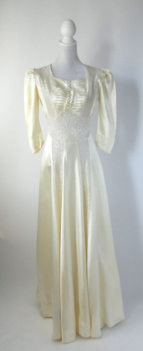 Vintage Wedding Dress, 1930s Wedding Dress, 30s W… - image 7